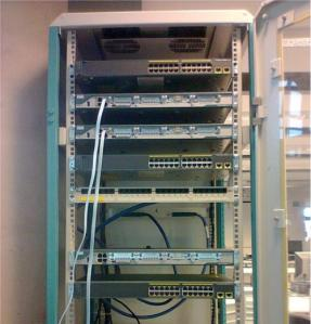 Routing system, minus the cabling