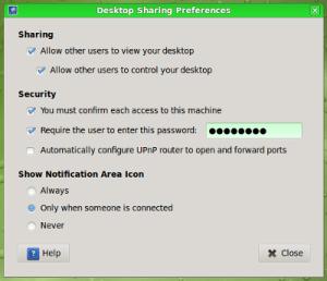 VNC-Server-Settings