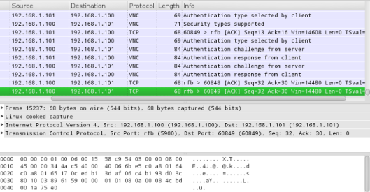Wireshark-VNC-Attack