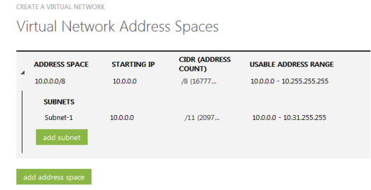 virtual-network-address-spaces