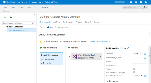 team-services-release-definition