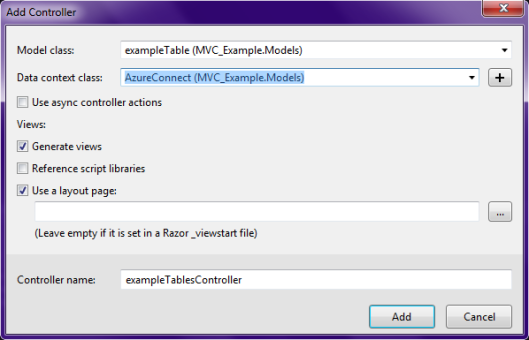 MVC-Add-Controller-Options