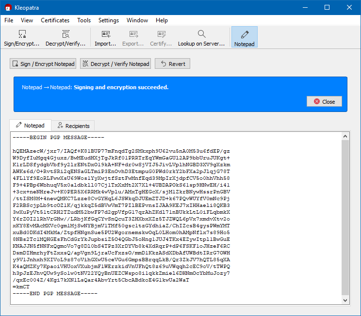 OpenPGP Encryption using Gpg4win and Kleopatra | The Krypt