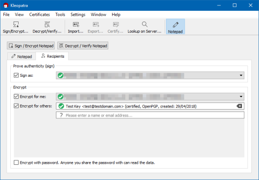 OpenPGP Encryption using Gpg4win and Kleopatra   The Krypt