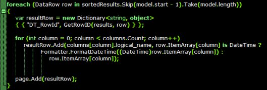Ordering Results in DataTables js by JSON-Defined Columns | The Krypt