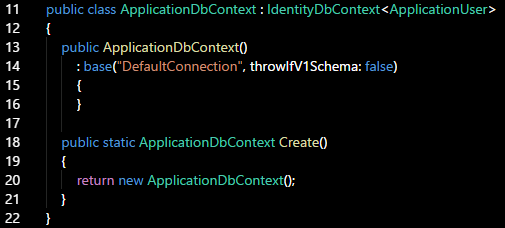 Setting Up a Data Source Using the Code-First Entity